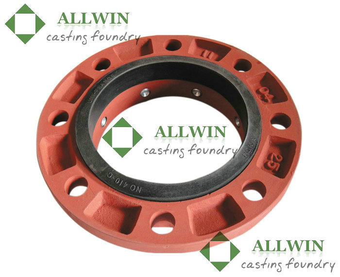 Ductile iron flanged adapter for di pvc and steel pipe