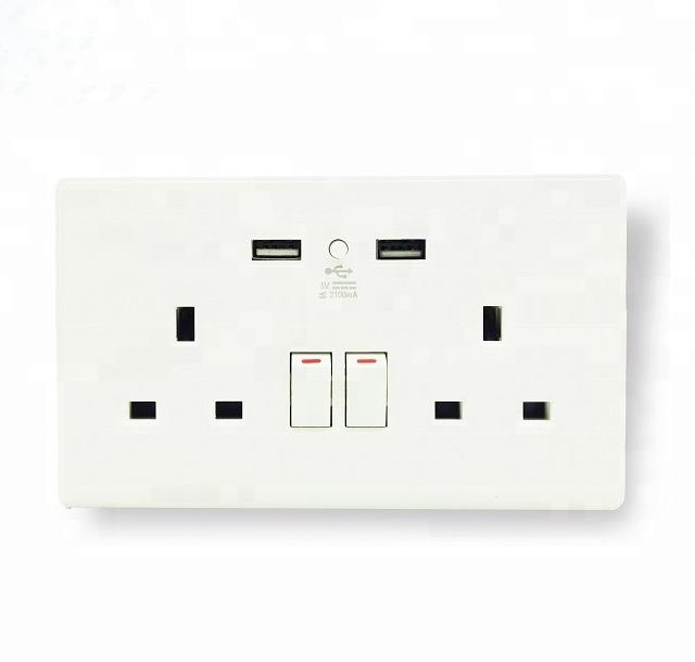 UK Standard Smart Home System Universal Wall Switch With Socket Power USB  WiFi Plug
