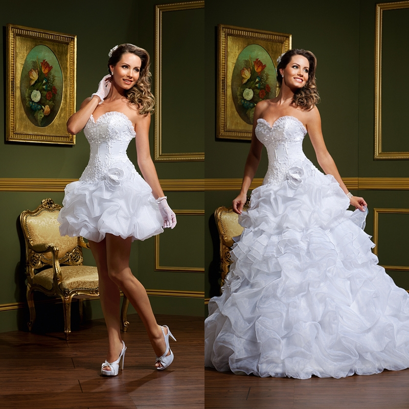 Elegant Sweetheart Lace Two Piece Wedding Dresses 2015