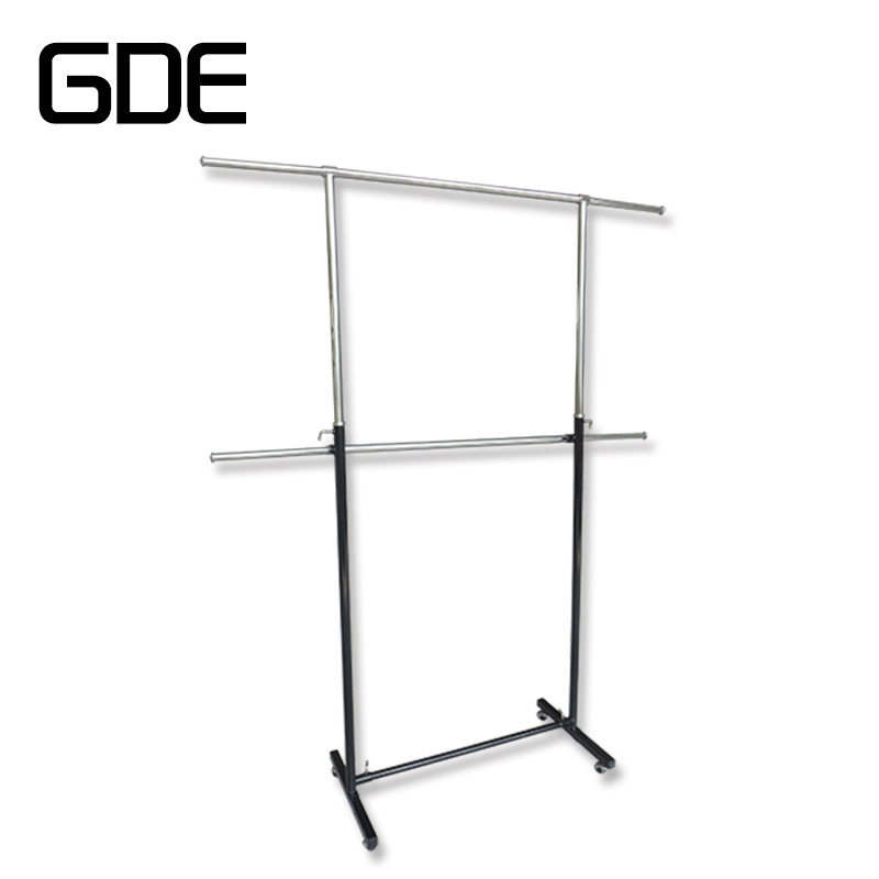 Metal fashion retail clothing displays rack/shelf adjustable
