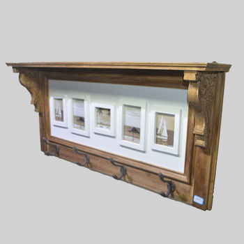 Retro Wall Shelf With Photo Frames