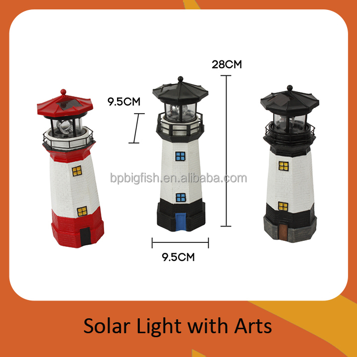 Giant Our Door Solar Garden Polyresin Lighthouse 11 Quot 28cm