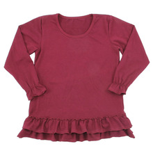 T-shirts voor Meisjes Lange Mouw Roupa Infantil <span class=keywords><strong>Prinses</strong></span> Kleding Kids Solid Ruches kinderen t-shirts