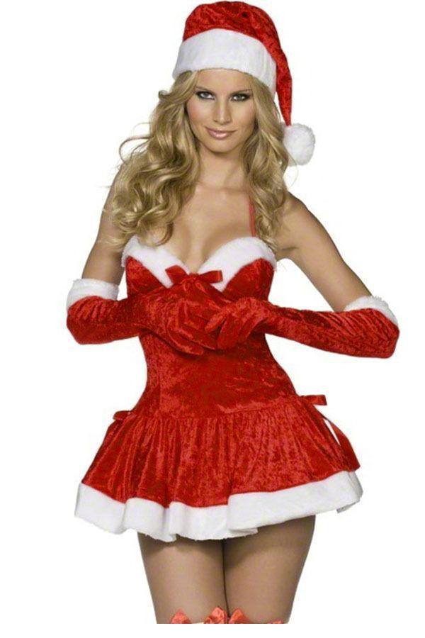 60b302ecbb2 Get Quotations · new 2015 christmas dress 3 pcs sexy women s cosplay  costumes uniform nightclub party club Naughty Miss