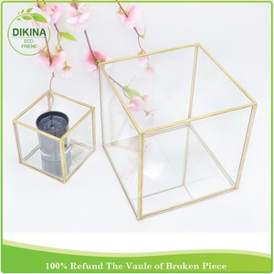 new products 2016 innovative product Brass Exterior Pendent Lantern / Vintage Wall Mount hanging glass candle holder for guests