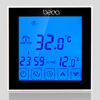 Water floor heating room thermostat with Weekly programmable