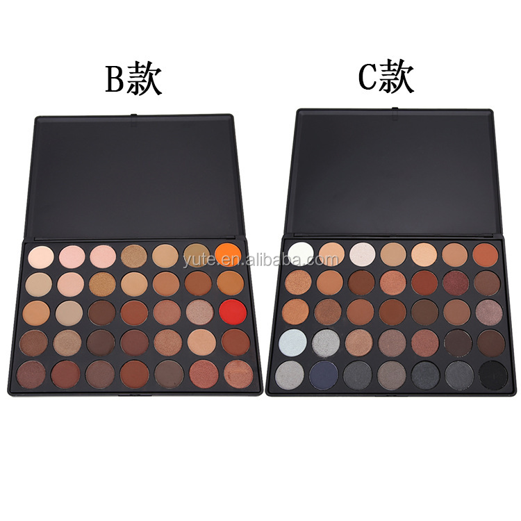 high quality 35 Color makeup eyeshadow palette, private label cosmetic with low MOQ, low price
