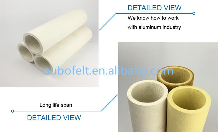 Fibra de Poliéster Sentiu Rolo/Tubo de Baixa Temperatura da Zona para o Perfil De Alumínio