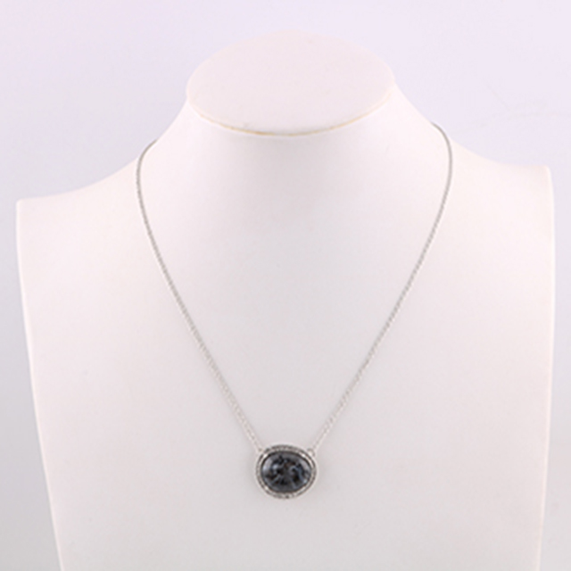 Resin Black Stone Dollar Long Chain Japan Jewelry Wholesale Child Necklace silver women charm necklaces
