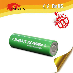 Imren 21700 4800mah 30a rechargeable vape l ion battery green flat top 18650 battery