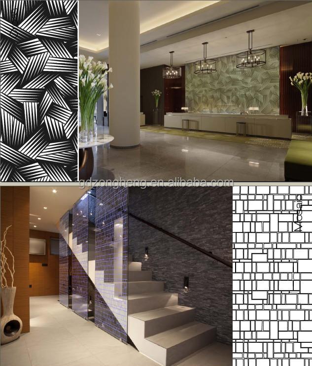 Interieur Decoratief Glas Gecoat Glas Woonkamer Glazen Wand Design ...