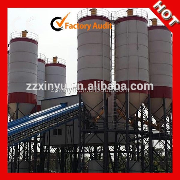 Xinyu Manufacture HZS90 Stationay Concrete Batching Plant Cement