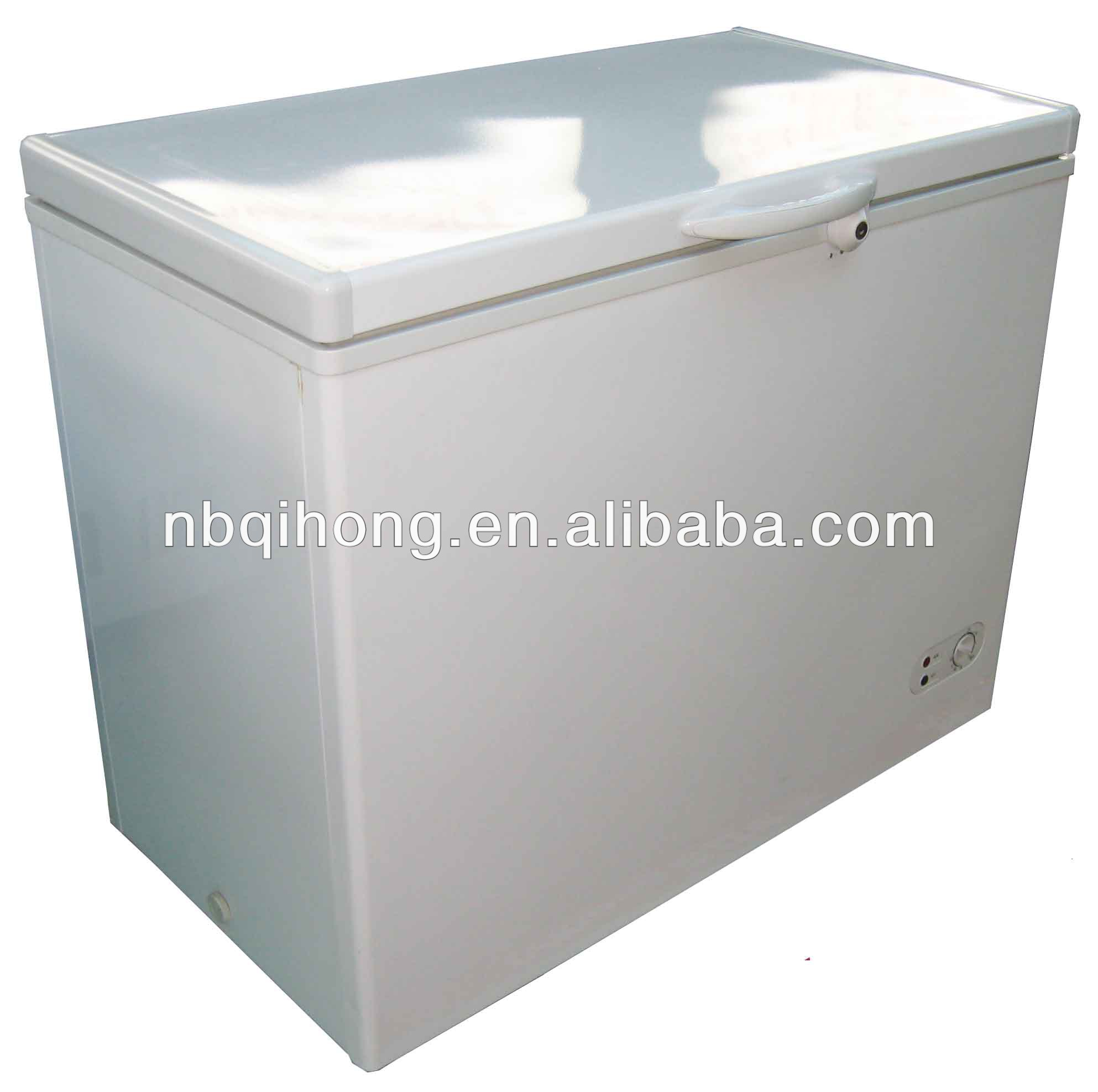 208L top open door chest freezer