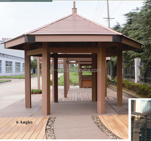 Engineered Green Wood plastic composite 6 angles pavilion