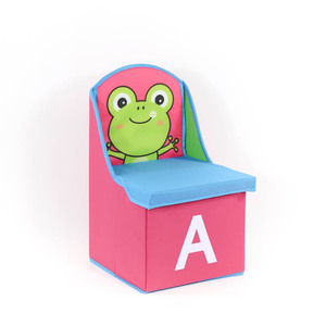 household china factory wholesale stuffed animal chair home folding chair storage box