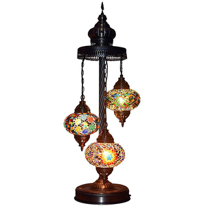 JLM-6816 Moroccan handmade turkish lamps with stained glass shade tiffany mosaic table lamp