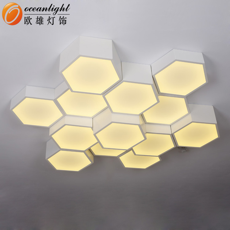 Contemporary Hexagon Aluminum Acrylic Led Shape Energy