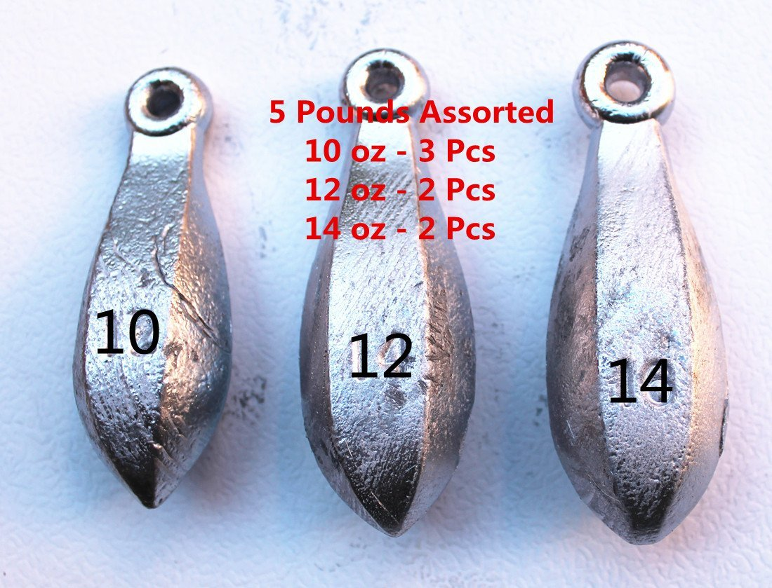18 piece lot 6 ea 10oz 12 oz /& 16 oz  Cannonball  Sinkers  fishing weights