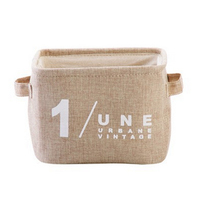 4 Pack Foldable Storage Cube Solid Color Square Cotton Storage Basket With Handles
