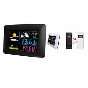 Home Decor Colorful LCD Screen Weather Station with Indoor Outdoor Digital Thermometer Clock