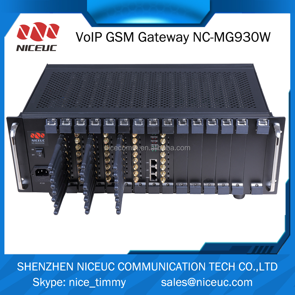 New brand SIP gsm voip gateway with 96 sim cards for call terminal support SMS voip pabx