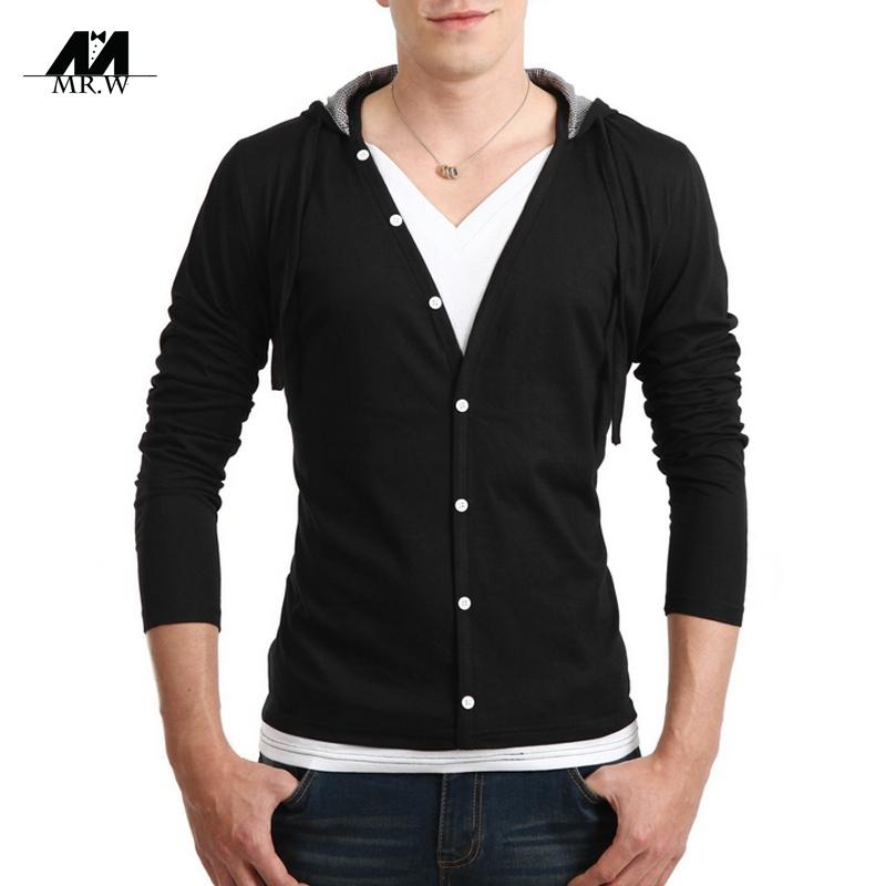 Buy New Brand Mens Cardigan Sweater Knitwear Hooded Casual Cardigan