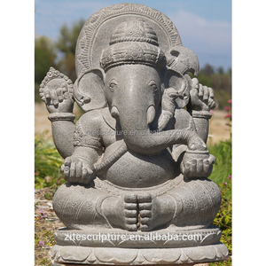 Hand Carved Ganesh Bali Stone Statue