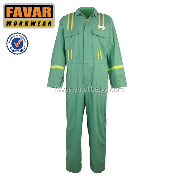 workmens reflective safety fireproof workwear coverall