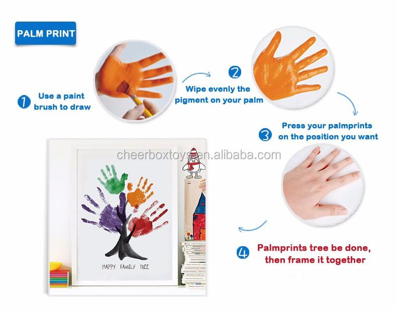 12 Renkler Toksik Olmayan Su Renk Parmak Boyaçocuklar Için Renkli