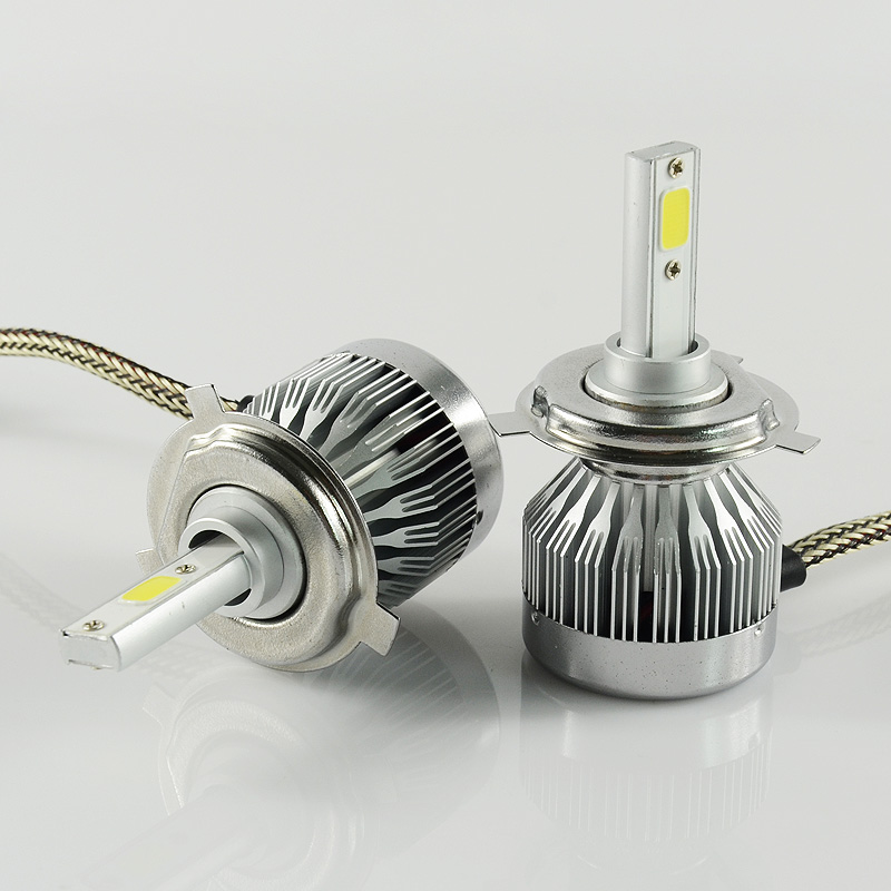 Terkecil ukuran ultra melebihi kekuatan super terang halogen hid lampu mudah instalasi c1 led headlight konversi kit untuk mobil