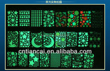 fluorescent alphabet letter sticker glow in the dark sticker wall sticker