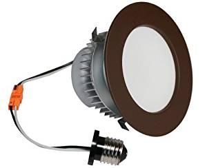 American Lighting EP4-E26-30-DB E-Pro 4-Inch Downlight, 3000K Color Temp, E26 Base, 7.5W, 525 Lm, Dark Bronze Trim by American Lighting