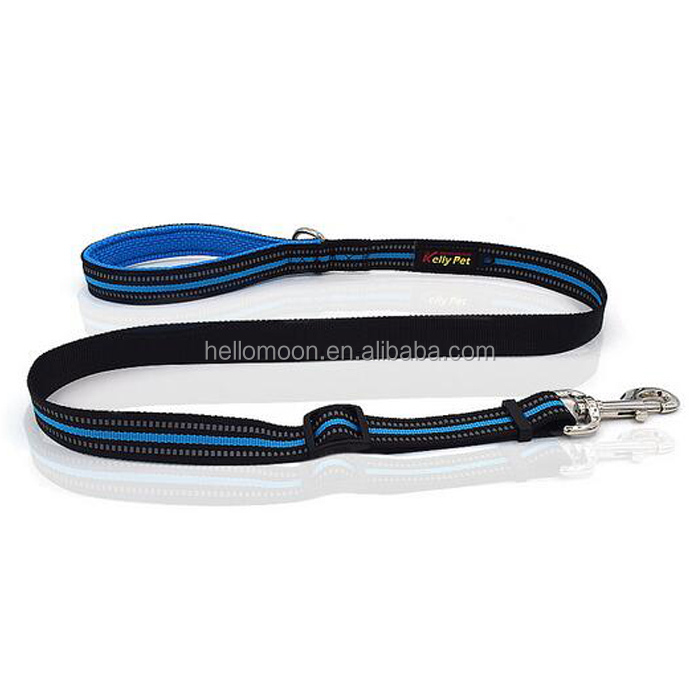 Custom Multi Color Reflective Soft Nylon Dog Lead