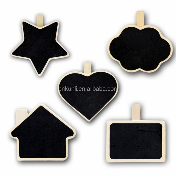 Mini clip wooden small blackboard chalkboard for wedding table decoration