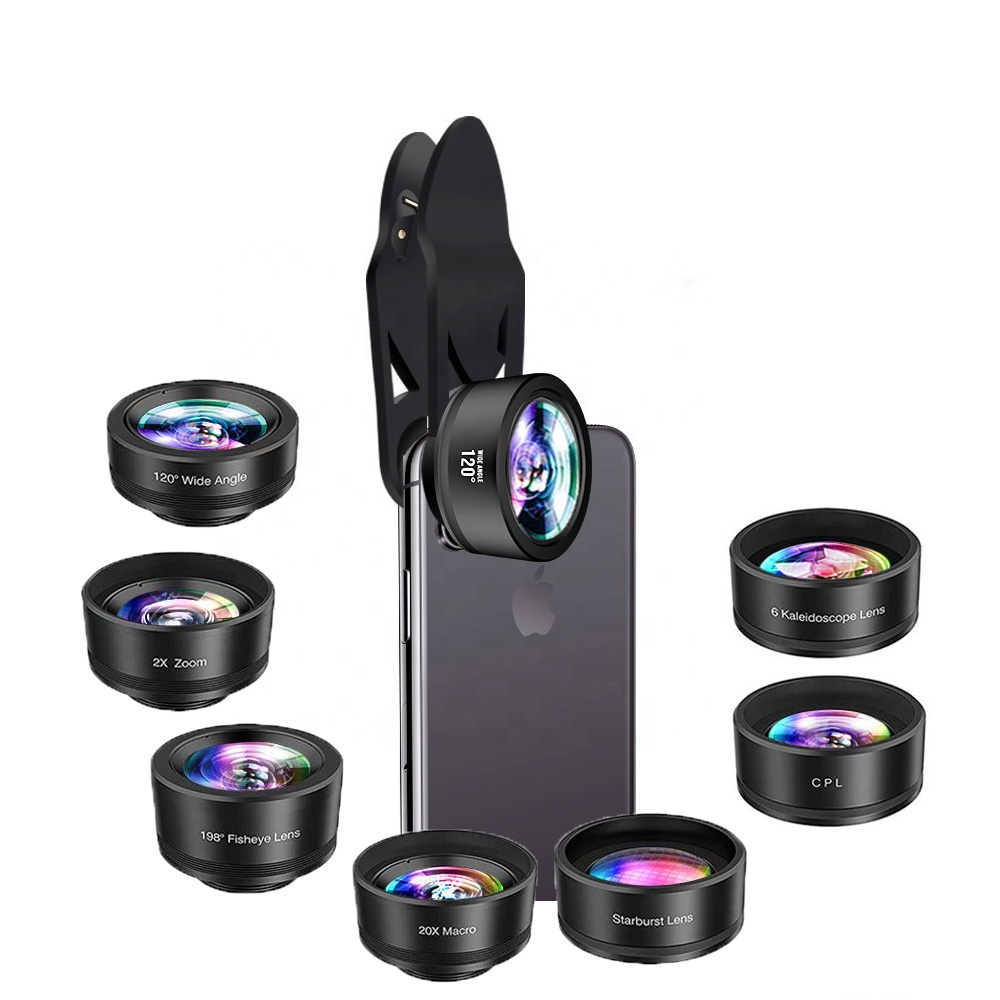 wholesale other mobile cell phone accessories 7 in 1 phone lens kit for mobile camera lens