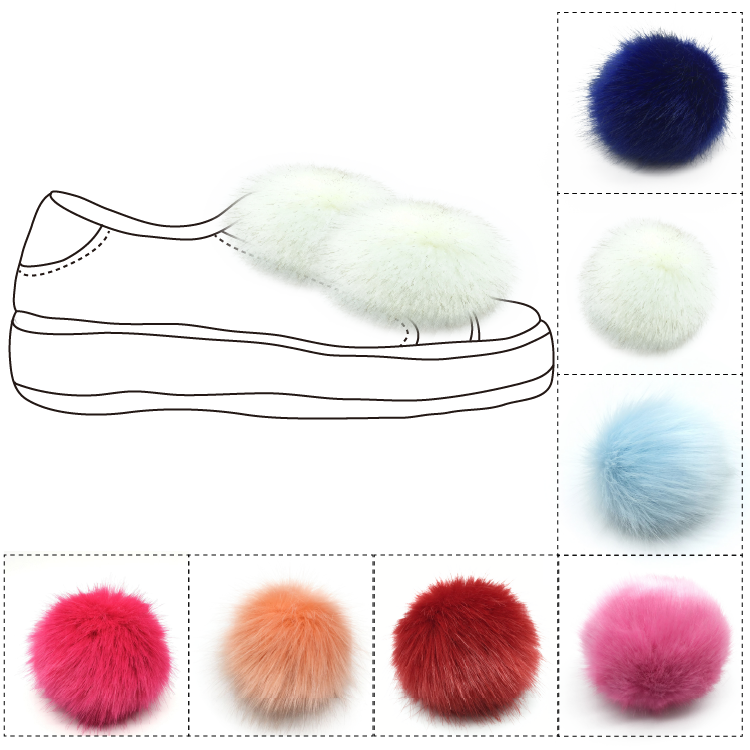 main de fourrure balles pompon chaussures clips pompon d coration pour dames chaussures buy. Black Bedroom Furniture Sets. Home Design Ideas