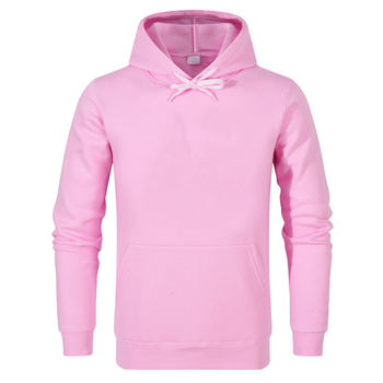 Low MOQ Pullover Men Spring good quality pink hoodies