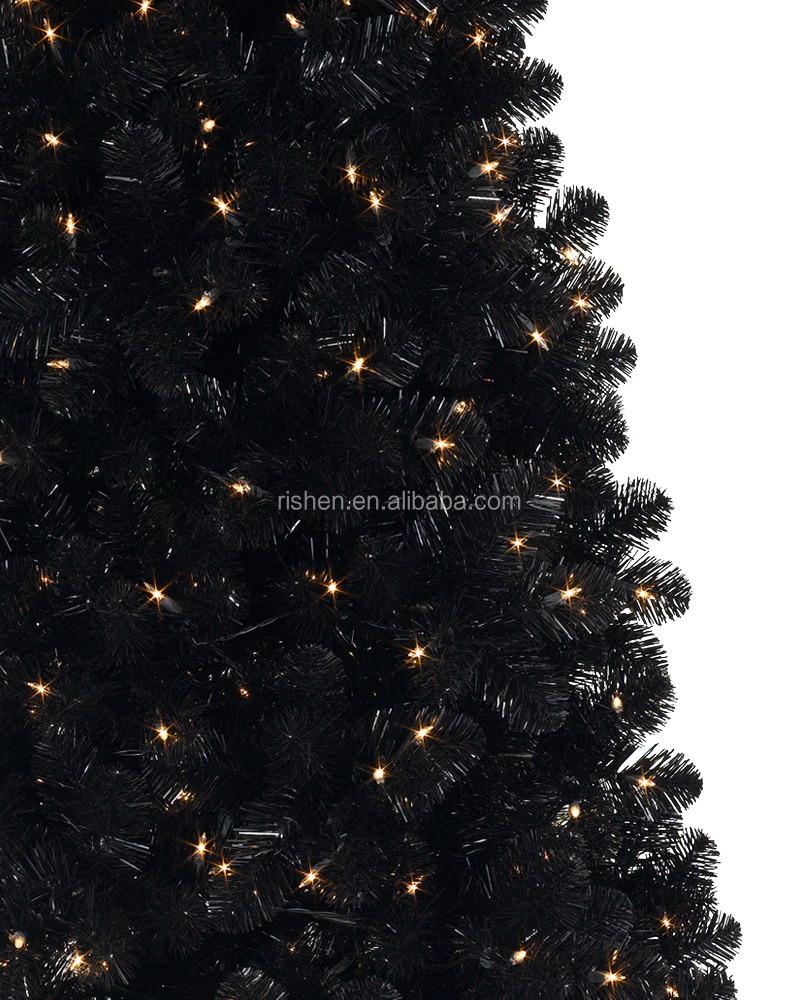 180cm Slim Black Xmas Tree With Led Lights Artificial Christmas