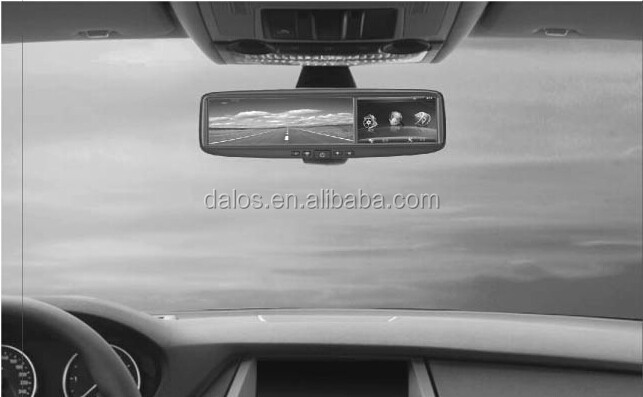 4.3 inch Capacitive Touch Screen Rear view mirror @Anti-dazzling blue membrane mirror+ GPS++bluetooth