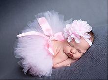 Bebê recém-nascido meninas mantilha flor Tutu bebê roupas vestidos lindo vestido bonito rosa Photo Prop Outfits 0 6 12 24 M