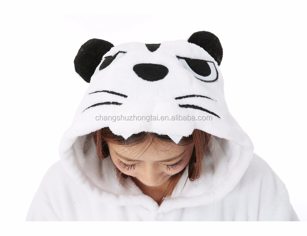 white tiger Onesie One Piece Funny Animal Pajamas