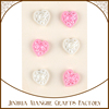 pink and white resin heart shape brads for craft decorations