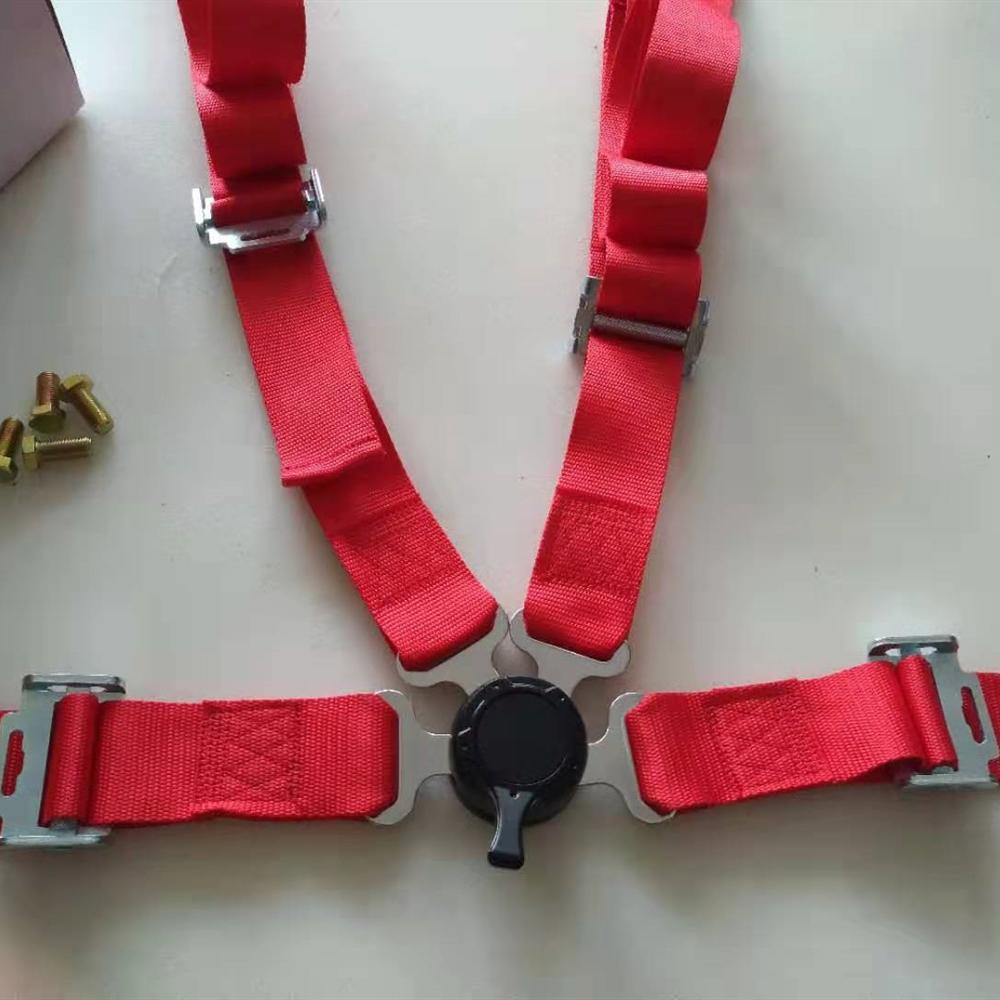 Универсальный 2 дюймов 4 точечный ремень безопасности Quick Release Красный автомобиль защитные шлемы Racing ремня через одно плечо с Camlock JBR4001