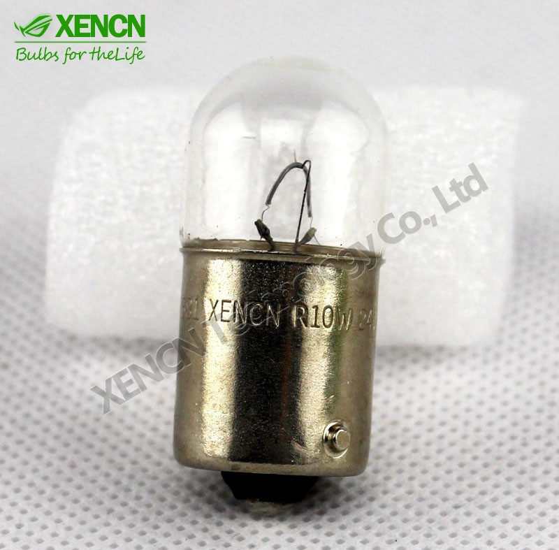XENCN 10x Truck Lights Metal Base T16 BA15s 24v 10w Light Bulbs
