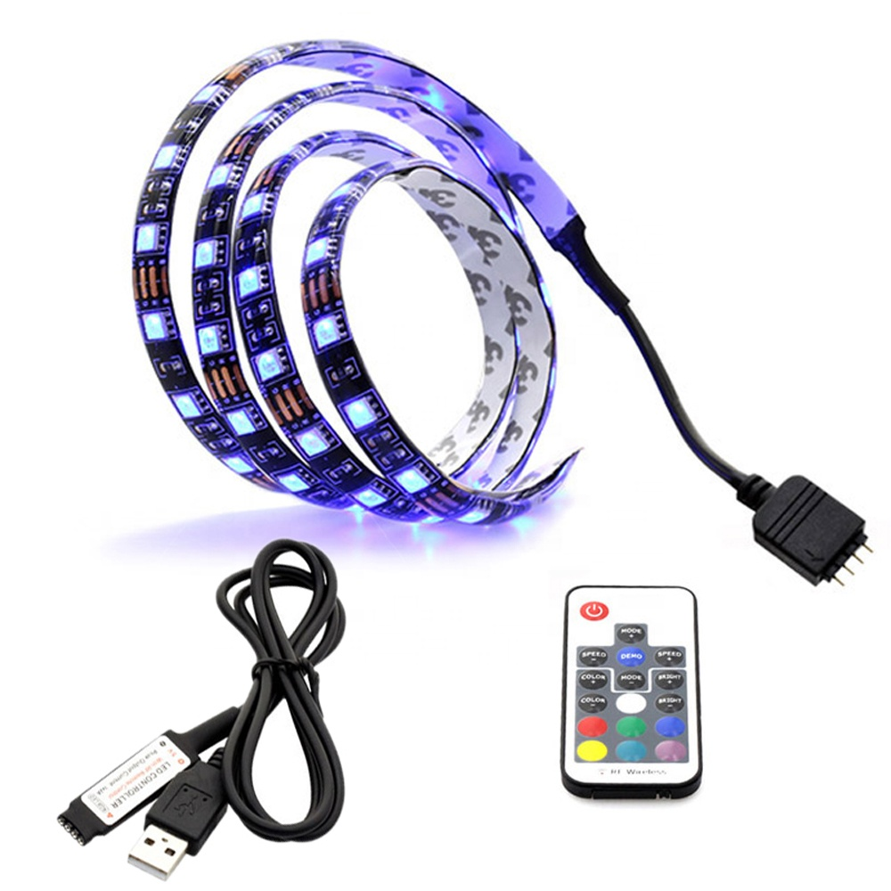 IP65 IP20 waterproof 17Key RF Controller <strong>RGB</strong> LED Light Strip 30 LEDs/m DC5V SMD5050