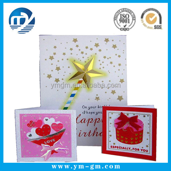 new arrival happy birthday handmade greeting card design / custom, Greeting card