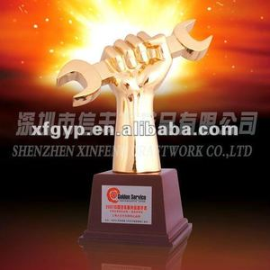 high-end metal trophy cup trophies Golden Wrench metal award trophy
