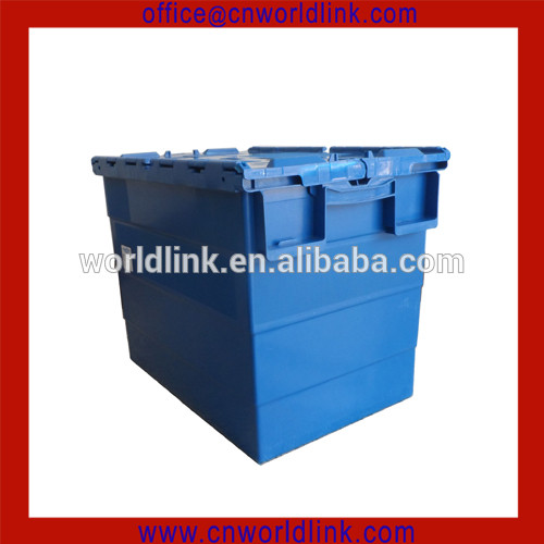 90L Big Box With Skate Nestable Plastic Moving Box Sale