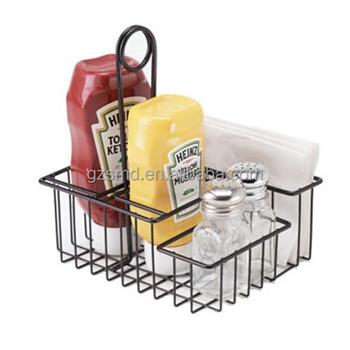 Hot Sale Black Metal Table CaddyTable Condiment Caddy Buy Table - Condiment holder for table