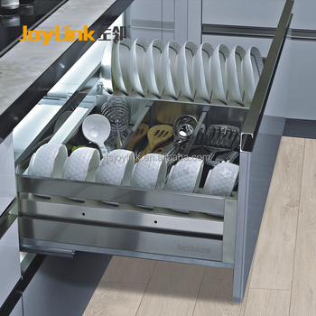 DB03 Series Plate Stainless Steel Trilateral Mutifuncional Basket/ Kitchen  Pantry Organizer Storage Basket